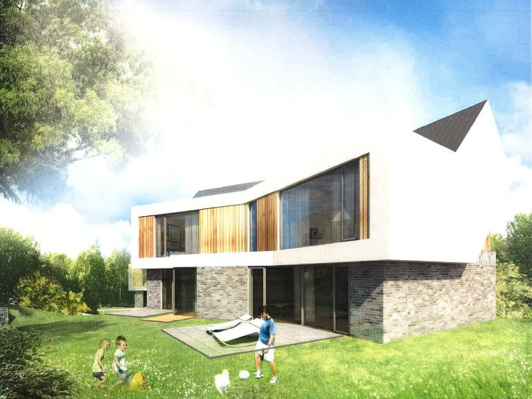 Prodej pozemku se stavebním povolením na 6 rodinných domů
