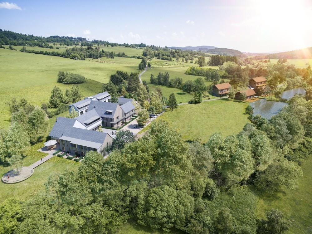 Pozemek s projektem Residence Benešova Hora na Šumavě